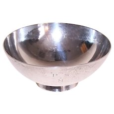 1950s Tiffany & Co Faneuil Sterling Silver Candy Bowl/Nut Bowl - Monogram P S * M