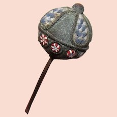 Antique Victorian Micromosaic Hat Pin