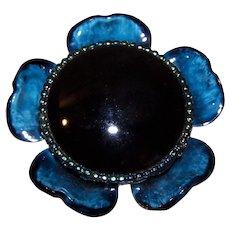 Original by Robert Blue Floral Pin