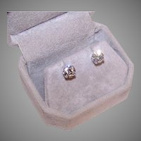 GIA 1.91CT TW Diamond Stud Earrings