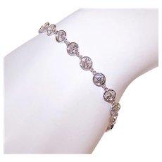 Vintage 14K Gold 7CT TW Diamond Bracelet