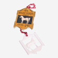White Horse Cellar Scotch Whiskey Plastic Charm Token - Good for One Dram
