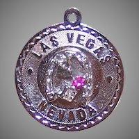 Sterling Silver Rhinestone Charm Las Vegas
