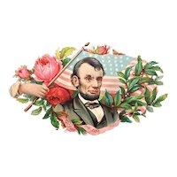 Victorian Die Cut Abraham Lincoln