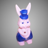 Easter Bunny Candy Container Pink/Blue
