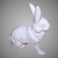 Antique Paper Mache Easter Bunny Figure