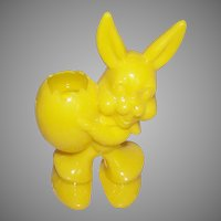 Yellow Plastic Easter Bunny Candy Container