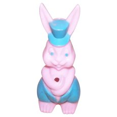 Easter Bunny Candy Container Baby Pink/Baby Blue