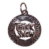 Crea Sterling Silver Disc Charm - Think Snow Lake Tahoe