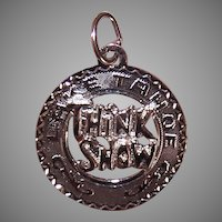 Vintage Sterling Silver Charm Think Snow