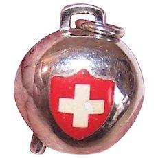 800 Silver Switzerland Bell Swiss Bell Charm