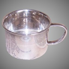 Towle Sterling Silver Baby Cup with Rabbit