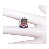 Sterling Silver Enamel Travel Shield Charm Windsor England