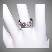 Uncas Sterling Silver Floral Ring Cigar Band