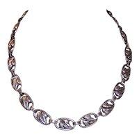 Retro Modern Danecraft Sterling Silver Necklace