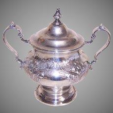 Gorham Chantilly Countess Sterling Silver Lidded Sugar Bowl