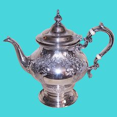 Antique Victorian Gorham Chantilly Countess Sterling Silver Teapot