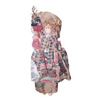 Primitive Country Doll with Bird House