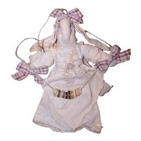 Handmade Country Rabbit Dressed in Cotton