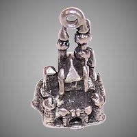 Vintage Disney Sterling Silver Castle Charm
