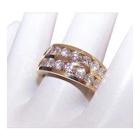 Estate 18K Gold 1.75CT TW Diamond Wedding Band Wedding Ring