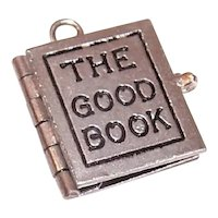 Wells Sterling Silver Charm The Good Book