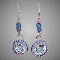 Sterling Silver Italian Glass Bead Earrings