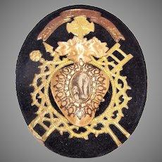 Napoleon III French Religious Icon Souvenir of Lourdes