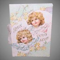 Antique French First Communion Souvenir Booklet