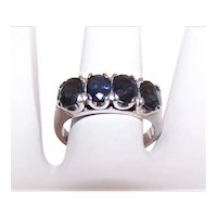 Estate 14K Gold 2CT TW Blue Sapphire Ring