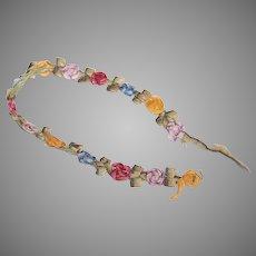 "8"" Length of Antique French Ribbonwork Trim"