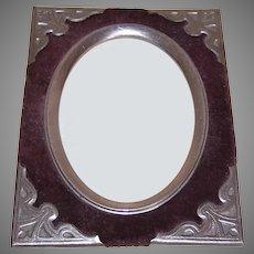 Antique Victorian Velvet Metal Picture Frame Insert or Front