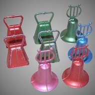 Set/8 Vintage Christmas Bell Ornaments by Bruce