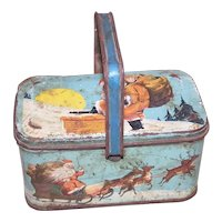 Vintage Tindeco Night Before Christmas Tin Box Candy Container