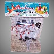 Original Package Snowman Package Ties Made in Japan