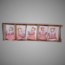 Boxed Set/5 Made in Japan Ornaments