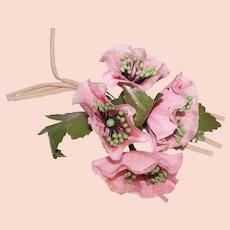 Vintage Pink Floral Begonia Flower Corsage