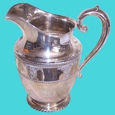 Vintage Wallace Sterling Silver Rose Point Pattern Water Pitcher Lemonade Holder