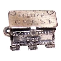 Beau Sterling Silver Charm - Hope Chest with HInged Lid