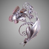 Carl Art Sterling Silver Lily of the Valley Pin