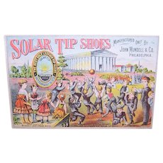 Solar Tip Shoes John Mundell & Co Philadelphia - Victorian Trade Card