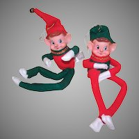 2 Vintage MIJ Bendable Elves