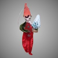 Vintage MIJ Spun Cotton Elf Ornament