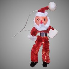 Vintage MIJ Spun Cotton Santa Claus Ornament