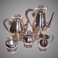 Codan Mexico 6 Pc Sterling Silver Tea Coffee Service