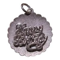 Vintage Beau Sterling Silver Charm Happy Birthday