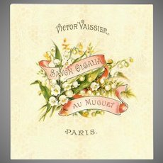 French Art Nouveau Victor Vassier Lily of the Valley Soap Label