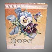 Ernist Nister Edwardian Hope Booklet Pansies Cover