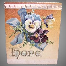 Ernist Nister Edwardian Hope Booklet Pansies Cover