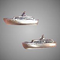 Fenwick & Sailors Sterling Silver Cufflinks Cruiser Boat Ship